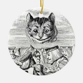 Cheshire Cat Above the Queen Ceramic Ornament