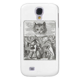 Cheshire Cat, Alice, and the King of Hearts Samsung Galaxy S4 Cases