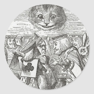 Cheshire Cat, Alice, and the King of Hearts Sticker
