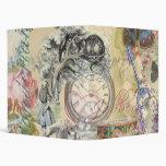 Cheshire Cat Alice in Wonderland 3 Ring Binder
