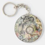 Cheshire Cat Alice in Wonderland Basic Round Button Keychain