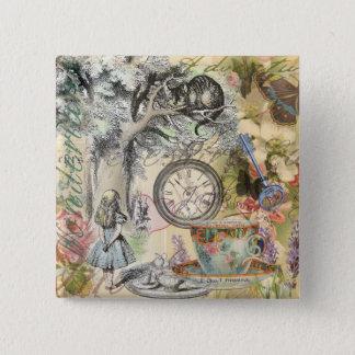 Cheshire Cat Alice in Wonderland Button