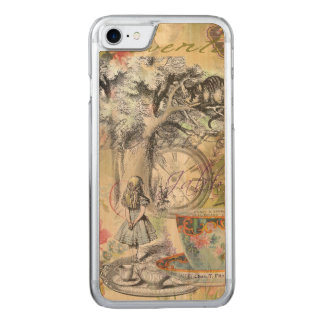 Cheshire Cat Alice in Wonderland Carved iPhone 7 Case