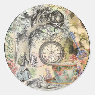 Cheshire Cat Alice in Wonderland Classic Round Sticker