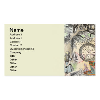 Cheshire Cat Alice in Wonderland Double-Sided Standard Business Cards (Pack Of 100)