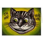 CHESHIRE CAT Alice in Wonderland Note Card