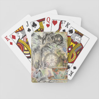 Cheshire Cat Alice in Wonderland Playing Cards