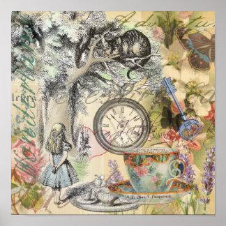 Cheshire Cat Alice in Wonderland Poster