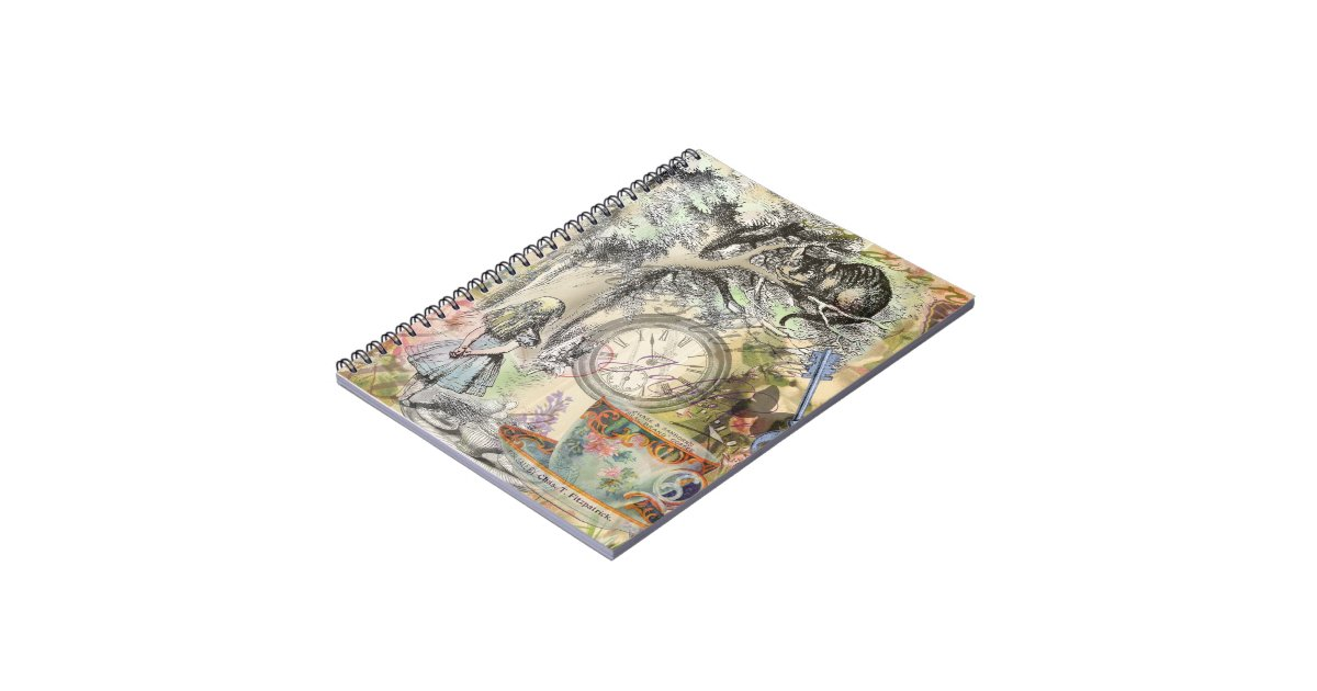 Cheshire Cat Alice In Wonderland Spiral Notebook Zazzle