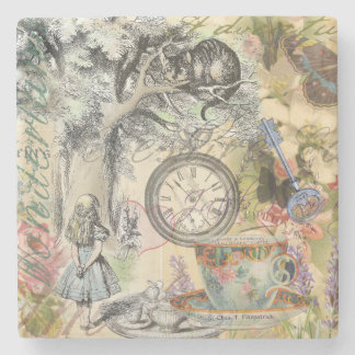 Cheshire Cat Alice in Wonderland Stone Beverage Coaster