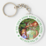 CHESHIRE CAT - ANY PATH WILL DO BASIC ROUND BUTTON KEYCHAIN