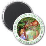 CHESHIRE CAT - ANY PATH WILL DO 2 INCH ROUND MAGNET