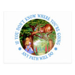 CHESHIRE CAT - ANY PATH WILL DO POST CARDS