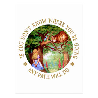 CHESHIRE CAT - ANY PATH WILL DO POSTCARD