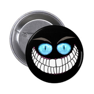 Cheshire Cat - Blue Eyes Button