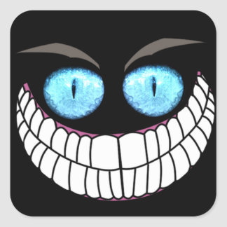Cheshire Cat - Blue Eyes Stickers