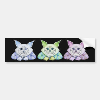 Cheshire Cat Bumper Sticker Car Bumper Sticker