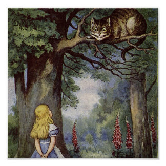 Cheshire Cat Canvas Art Poster