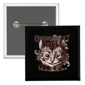 Cheshire Cat Carnivale Style Button