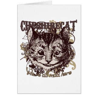 Cheshire Cat Carnivale Style Greeting Cards