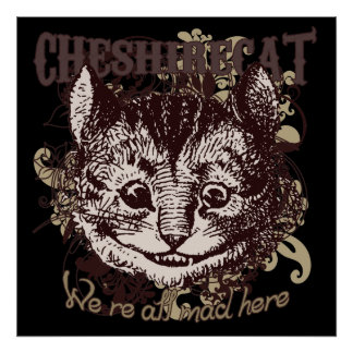 Cheshire Cat Carnivale Style Print