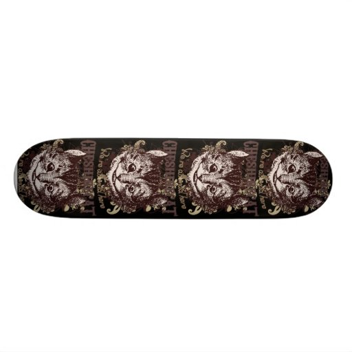 Cheshire Cat Carnivale Style Skateboard Deck