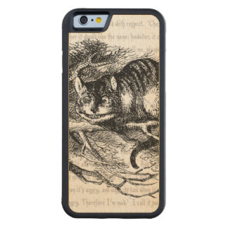 Cheshire Cat Carved Maple iPhone 6 Bumper Case