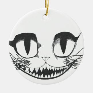 Cheshire Cat Ceramic Ornament