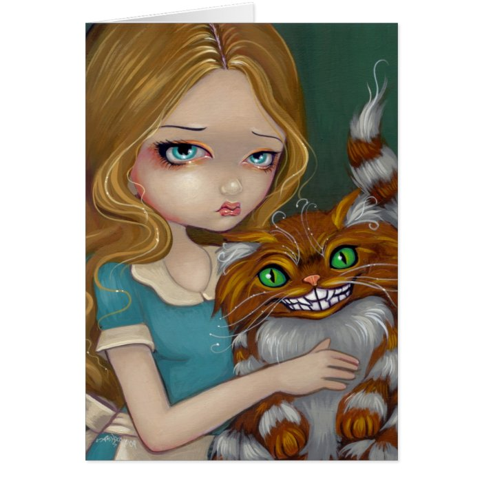 """""""Cheshire Cat Cuddle"""" Greeting Card"""