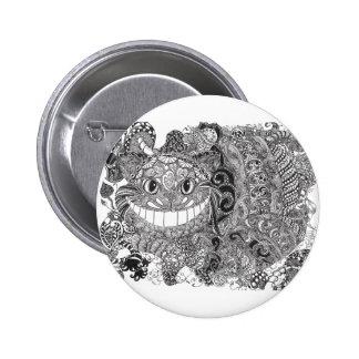 Cheshire Cat Design Button