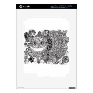 Cheshire Cat Design iPad 3 Decals