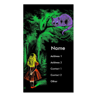"""""""Cheshire Cat"""" from Alice in Wonderland 2011 Card Double-Sided Standard Business Cards (Pack Of 100)"""