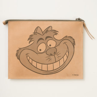 Cheshire Cat Grin Leather Travel Pouch