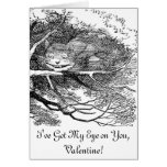Cheshire Cat Hidden in a Tree Greeting Card