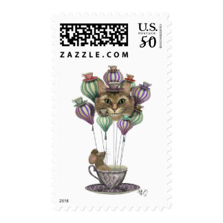 Cheshire Cat Hot Air Balloon Postage