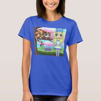 Cheshire Cat in a Tree Alice in Wonderland Emo T-Shirt