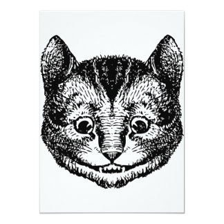Cheshire Cat Inked Black Card