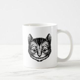 Cheshire Cat Inked Black Coffee Mug