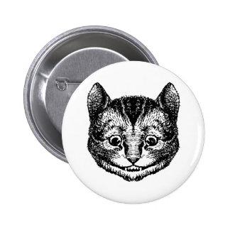 Cheshire Cat Inked Black Pin