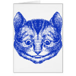 Cheshire Cat Inked Blue Card