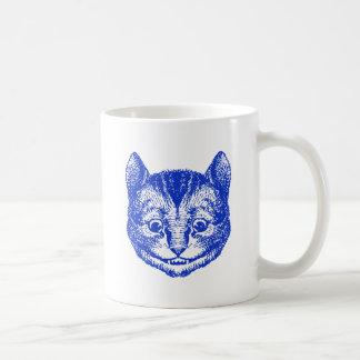 Cheshire Cat Inked Blue Coffee Mug