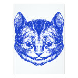 Cheshire Cat Inked Blue Custom Invitations