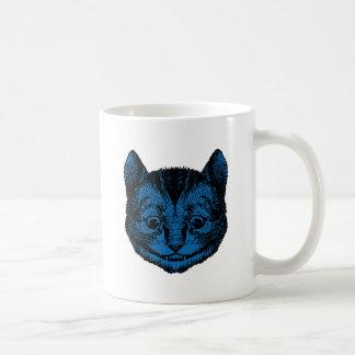 Cheshire Cat Inked Blue Fill Coffee Mug