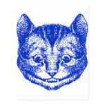 Cheshire Cat Inked Blue Post Cards