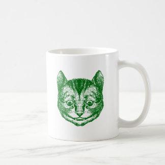 Cheshire Cat Inked Green Coffee Mug