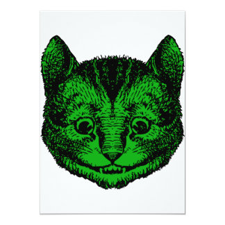 Cheshire Cat Inked Green Fill Card