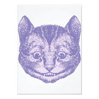 Cheshire Cat Inked Lavender 5x7 Paper Invitation Card
