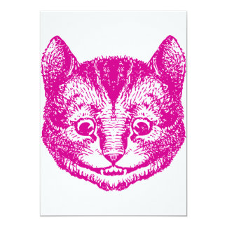 Cheshire Cat Inked Pink Card