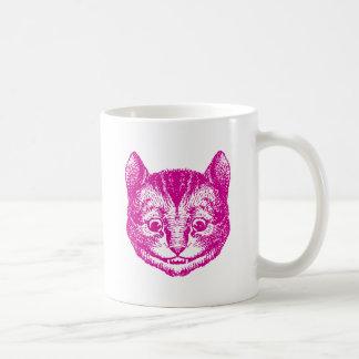 Cheshire Cat Inked Pink Coffee Mug