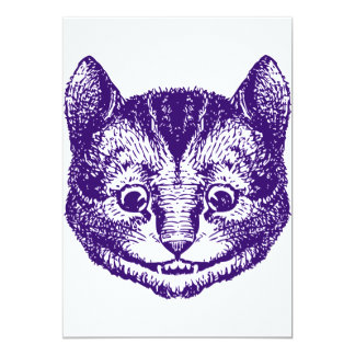 Cheshire Cat Inked Purple Card